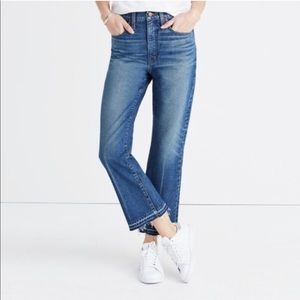 Madewell Retro Crop High Rise Bootcut Jeans